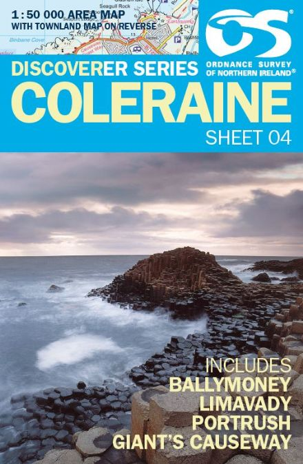 Ordnance Survey Northern Ireland 1:50,000 - Map 04 - Coleraine (Balymoney, Limavady, Portrush)